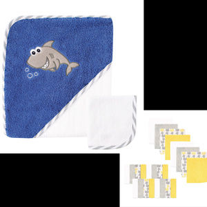 "🎁Baby  30""x30"" Hooded Bath Towel w/24 Washclothes"